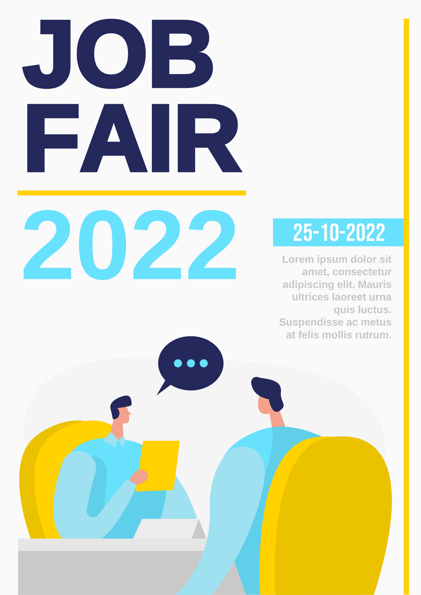 Poster template: Job Fair Poster (Created by InfoART's Poster maker)