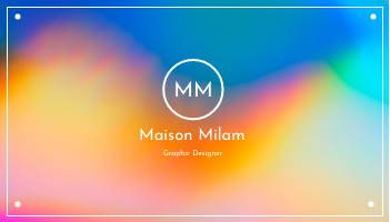 Business Card template: Rainbow Gradient Background Business Card (Created by InfoART's Business Card maker)