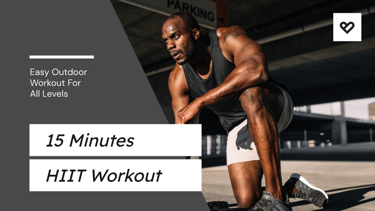 YouTube Thumbnail template: Easy Outdoor Workout HIIT YouTube Thumbnail (Created by InfoART's YouTube Thumbnail maker)
