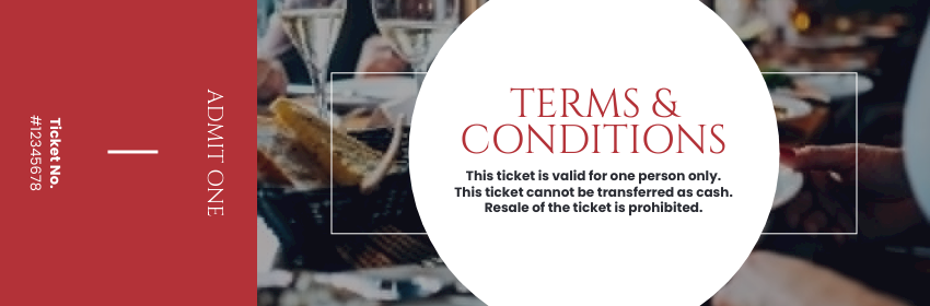 Ticket template: Annual Fundraising Dinner Ticket (Created by InfoART's Ticket maker)