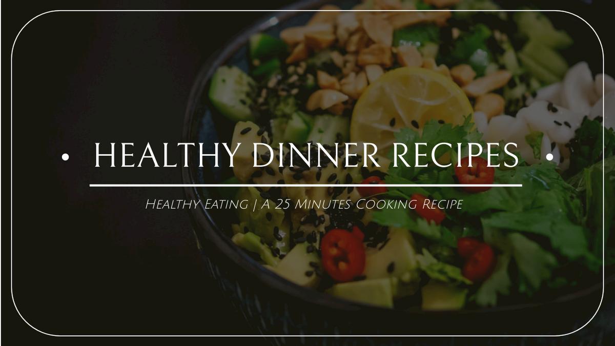 YouTube Thumbnail template: Green Salad Photo Healthy Food Recipe YouTube Thumbnail (Created by InfoART's YouTube Thumbnail maker)