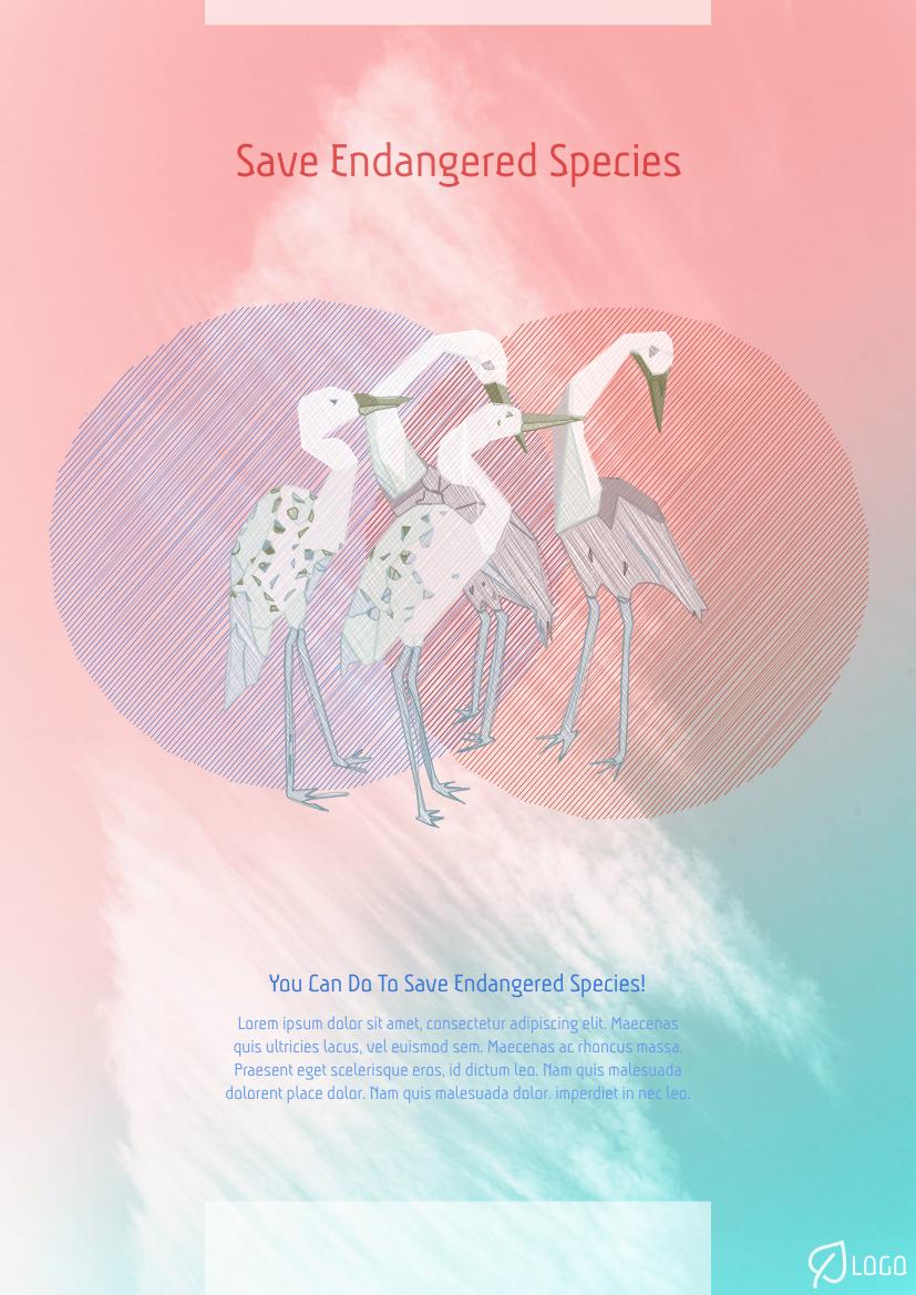 Flyer template: Save Endangered Species Flyer (Created by InfoART's Flyer maker)