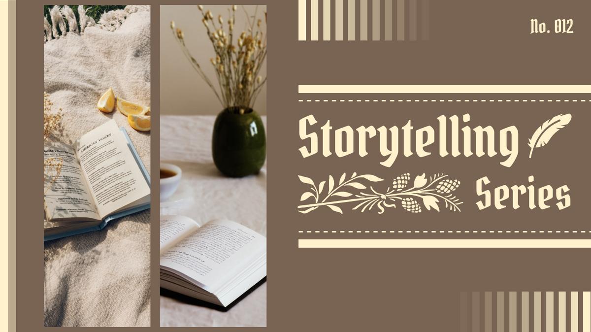 YouTube Thumbnail template: Storytelling YouTube Thumbnail (Created by Collage's YouTube Thumbnail maker)