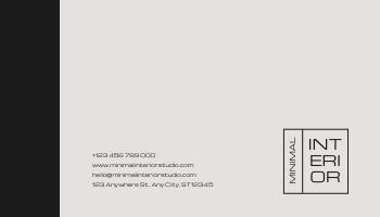 Business Card template: Minimal Black Interior Design Business Card (Created by InfoART's Business Card maker)