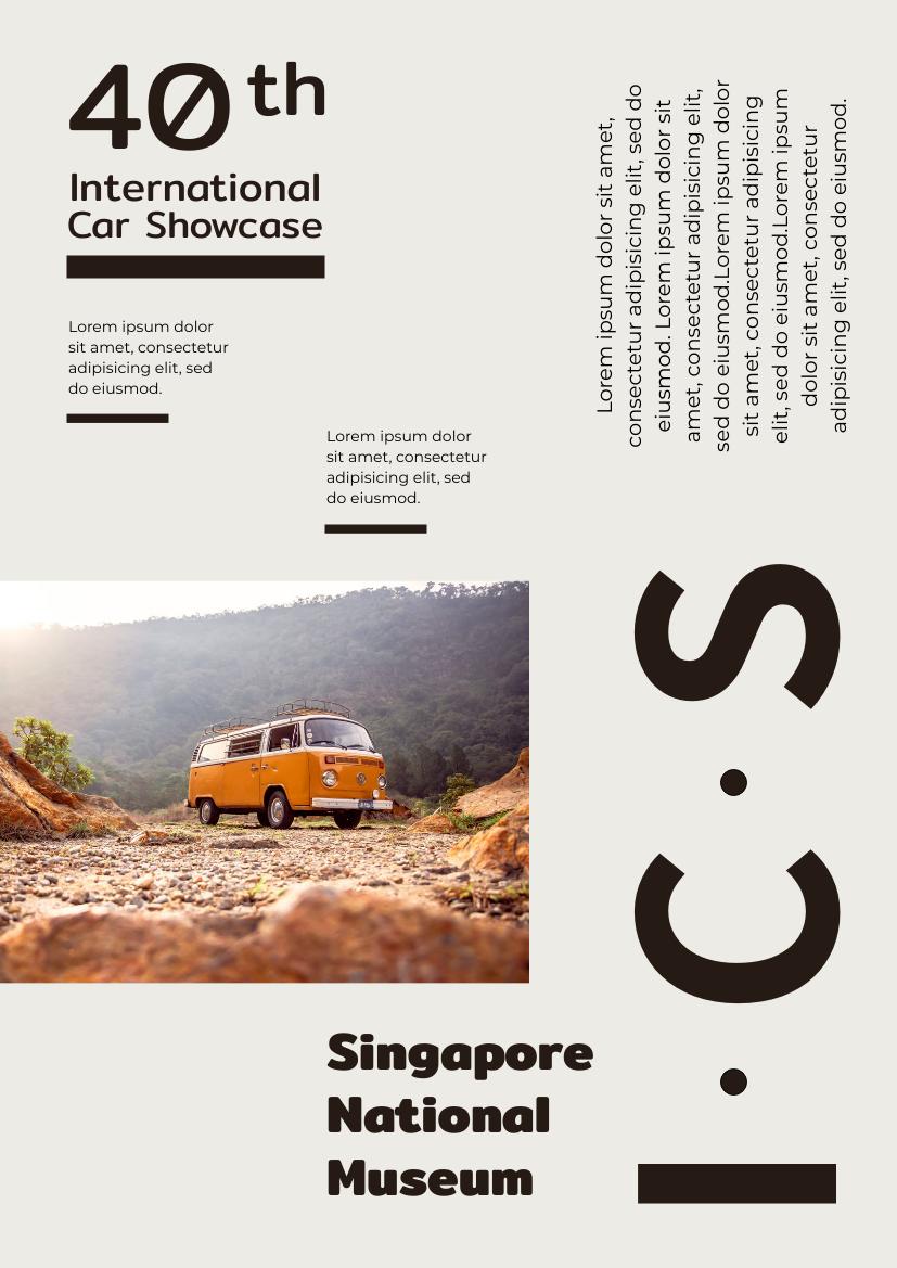 Flyer template: International Car Showcase Flyer (Created by InfoART's Flyer maker)