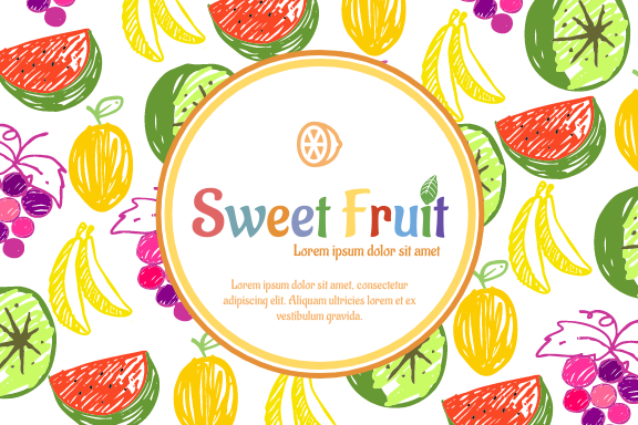 Label template: Colorful Fruit Label (Created by InfoART's Label maker)
