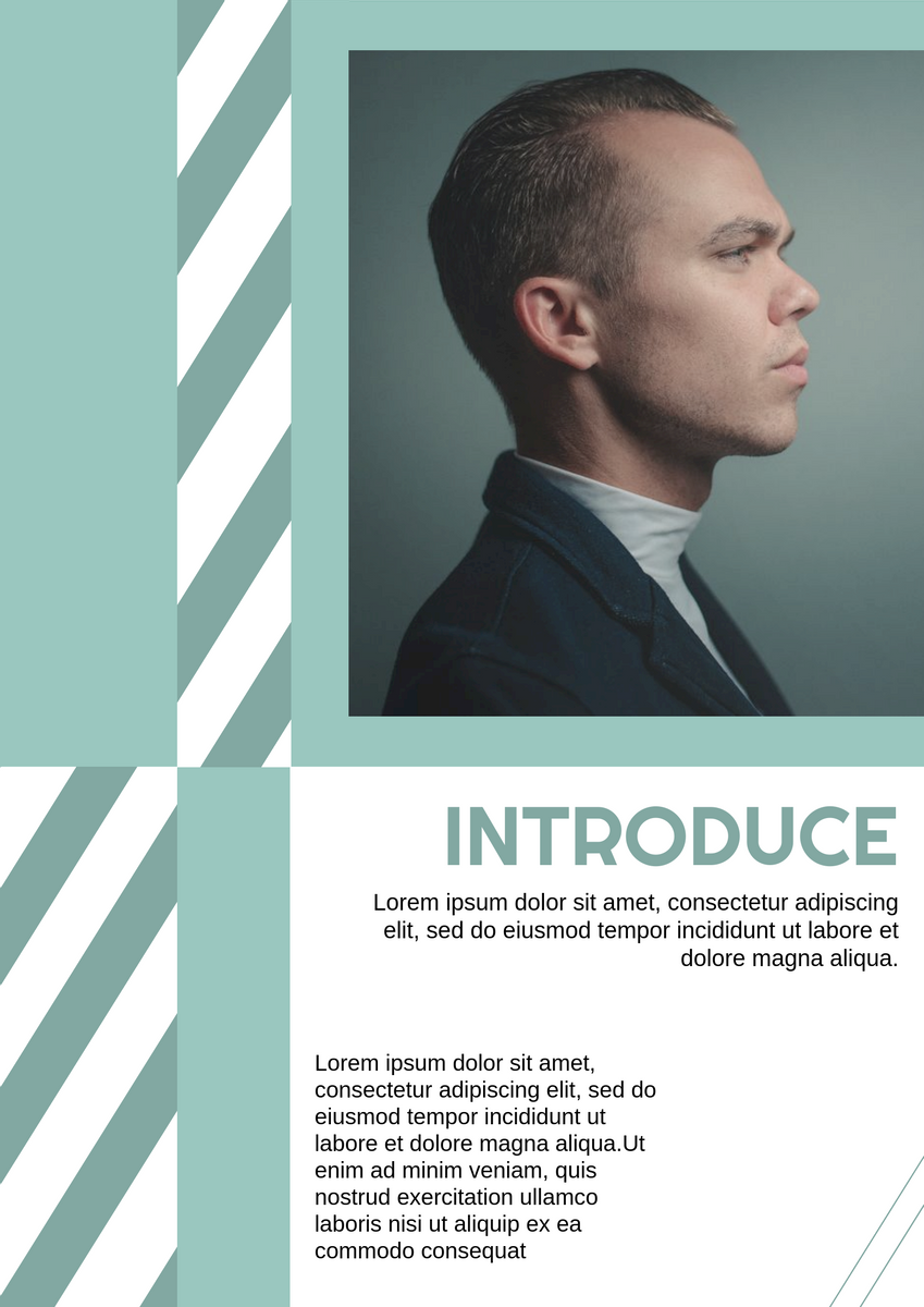 Poster template: Celebrity Introduction Poster (Created by InfoART's Poster maker)
