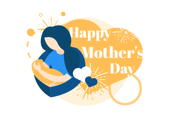 Festival Illustration template: Happy Mother's Day (Created by Scenarios's Festival Illustration maker)