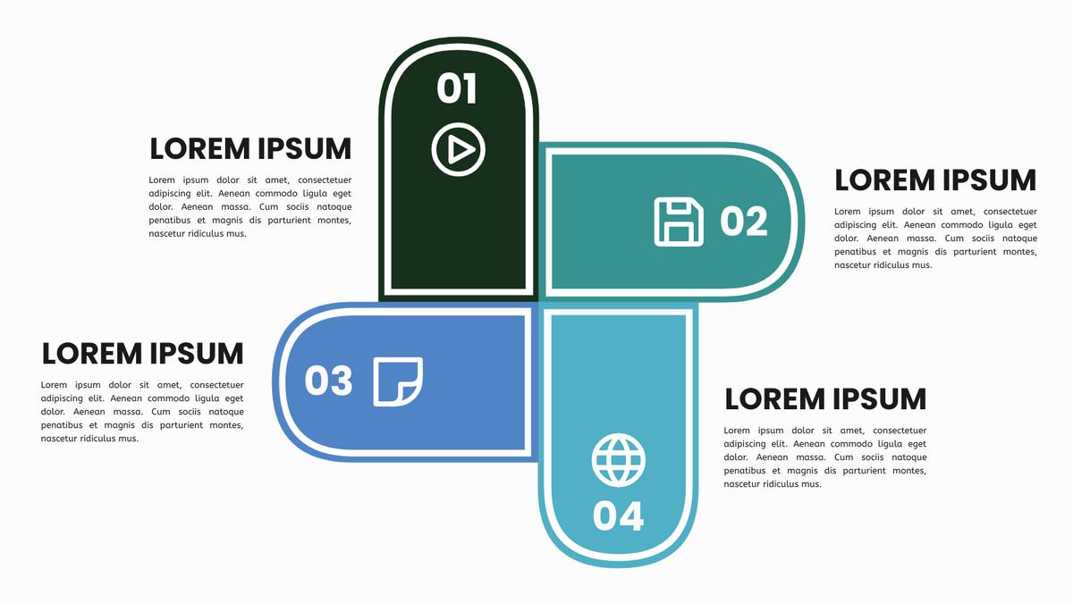 Four Quadrant Model template: Four Fan Shape Quadrant Model (Created by InfoART's Four Quadrant Model maker)