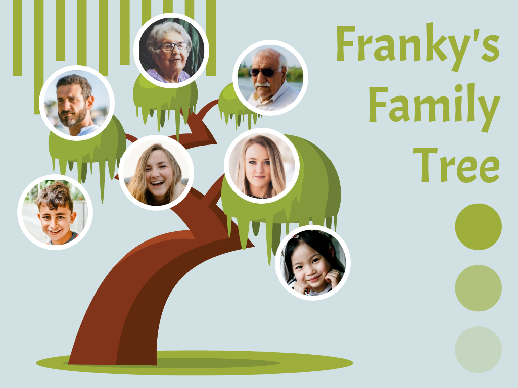Family Tree template: Graphic Family Tree (Created by Collage's Family Tree maker)