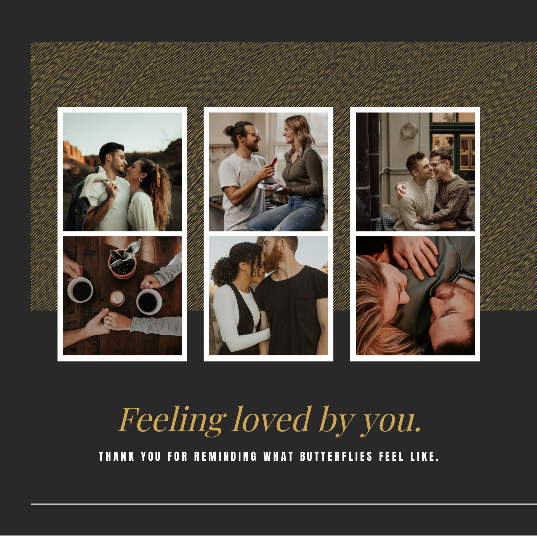Instagram Post template: Feeling Loved By You Instagram Post (Created by Collage's Instagram Post maker)