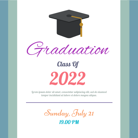 Invitation template: Class Of 2020 (Created by InfoART's Invitation marker)