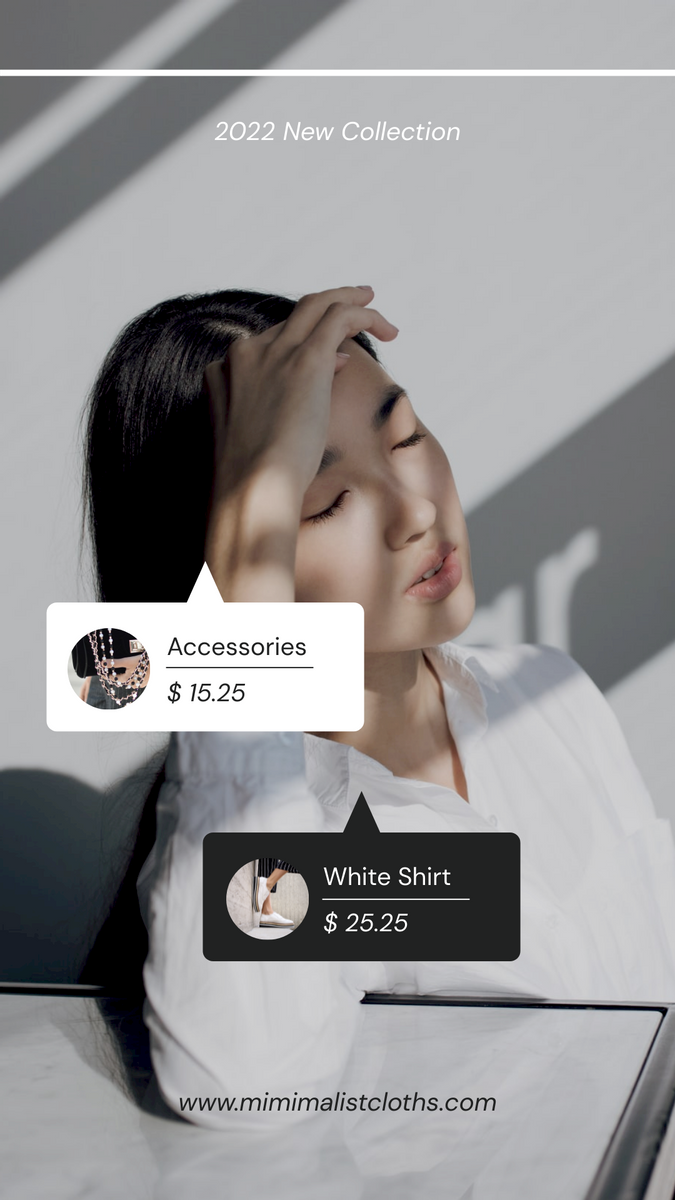 Instagram Story template: Minimal Clothing New Collection Instagram Story (Created by InfoART's Instagram Story maker)