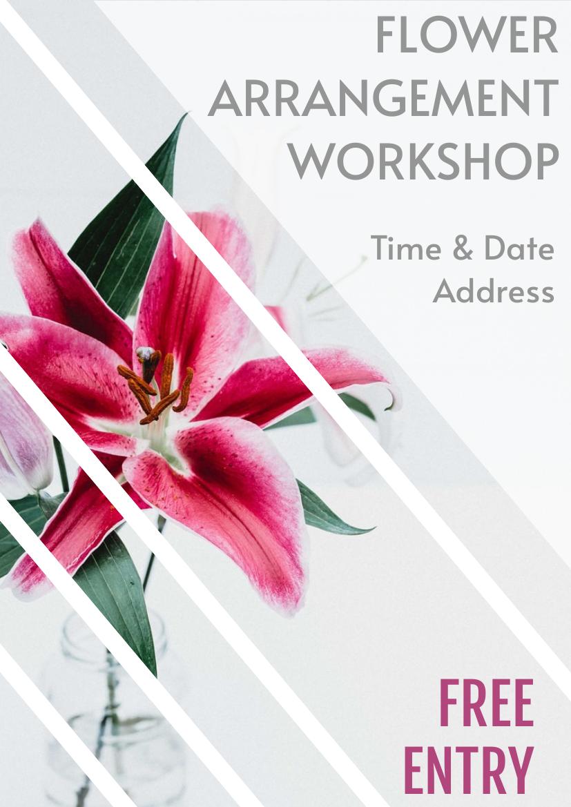 Flyer template: Flower Workshop Flyer (Created by InfoART's Flyer maker)