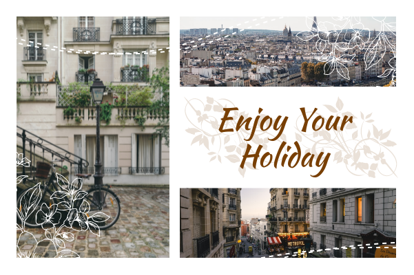 Greeting Card template: Enjoy Your Holiday Greeting Card (Created by Collage's Greeting Card maker)