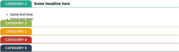 List Block Diagram template: Tab List (Created by Diagrams's List Block Diagram maker)