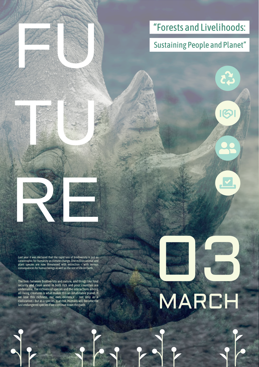 Poster template: Wildlife Conservation Day Poster (Created by InfoART's Poster maker)