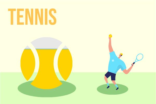 Sport template: Tennis (Created by InfoChart's Sport maker)