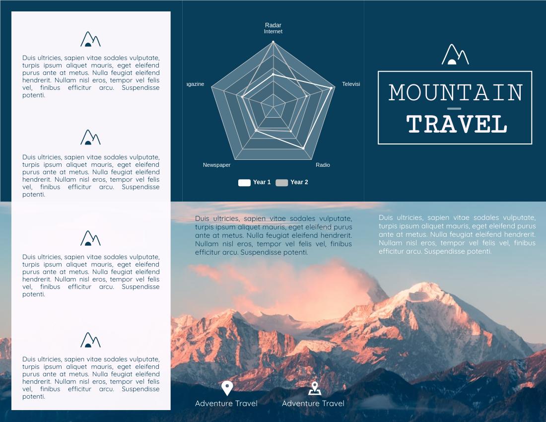 Brochure template: Mountain Travel Brochure (Created by InfoART's Brochure marker)