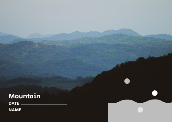 Post Card template: Mountain Post Card (Created by InfoART's Post Card marker)