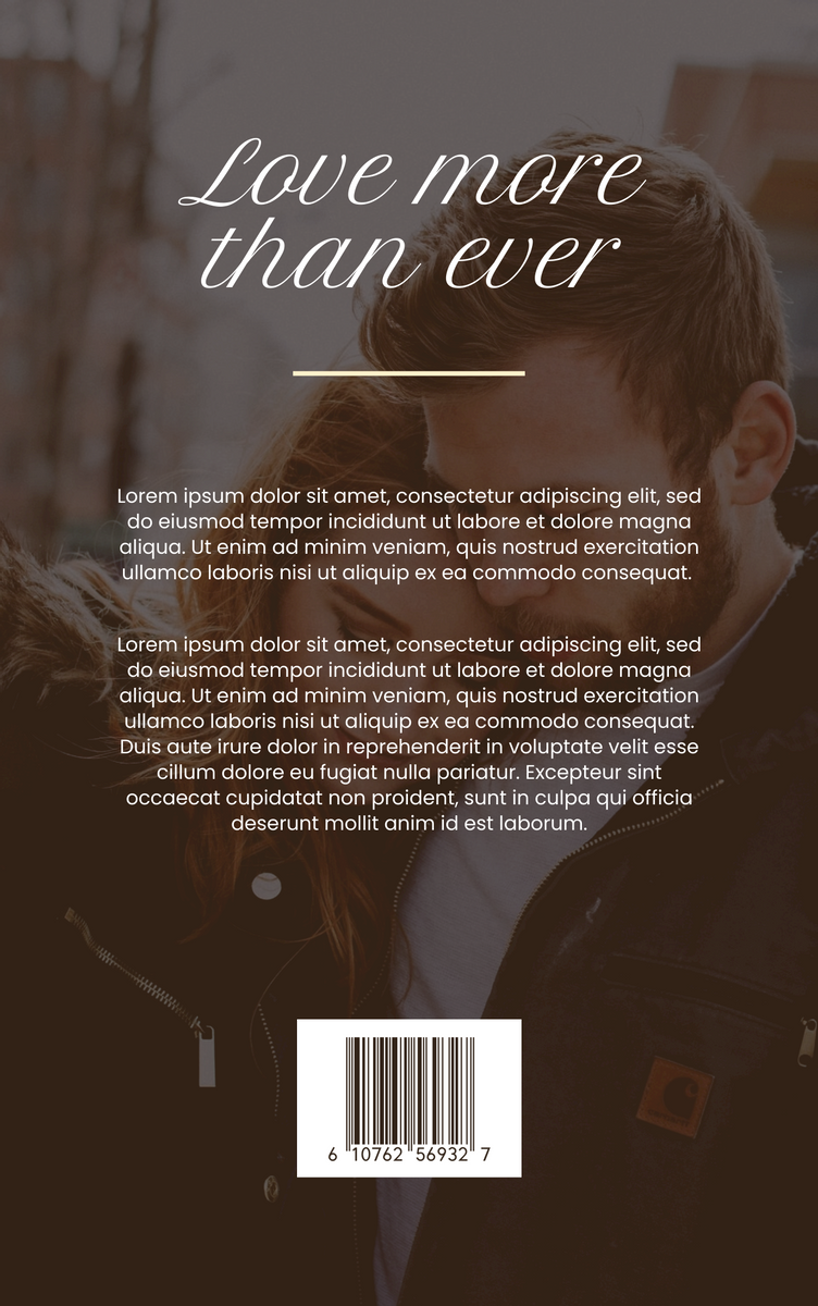 Book Cover template: Love And Romance Book Cover (Created by InfoART's Book Cover maker)