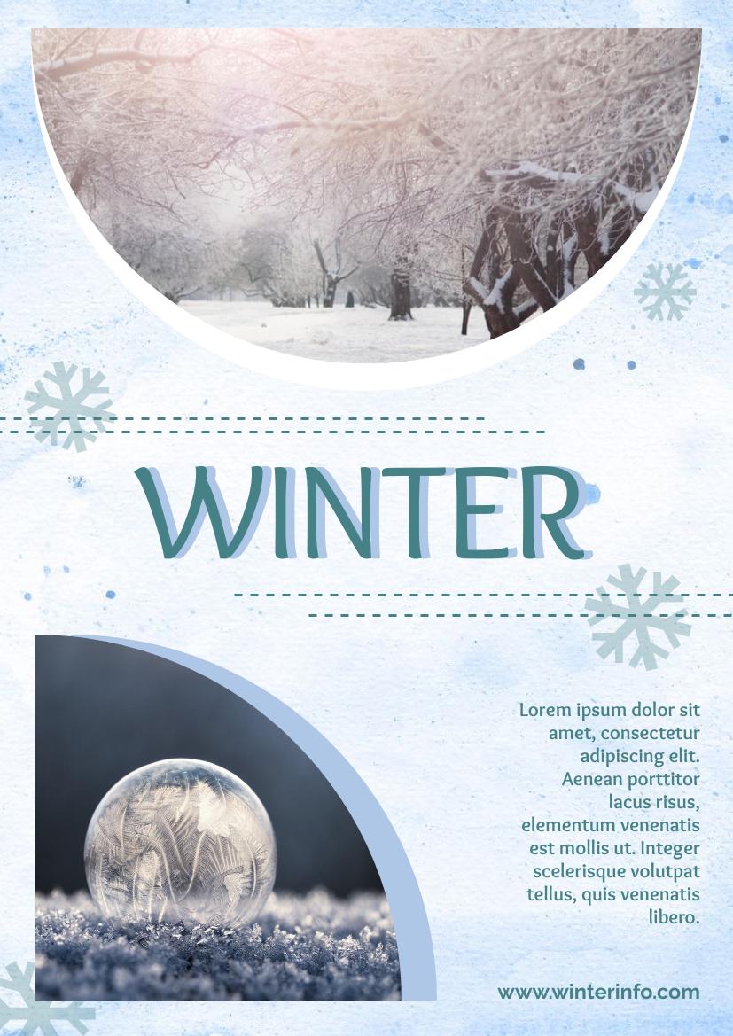 Flyer template: Winter Scene Flyer (Created by InfoART's Flyer maker)