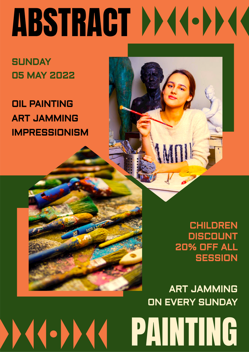 Poster template: Impressionism Art Workshop Poster (Created by InfoART's Poster maker)