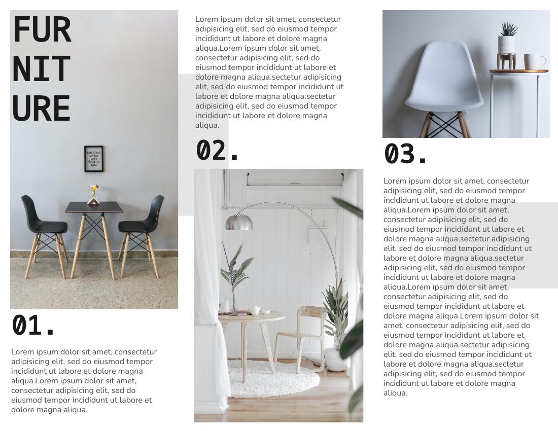 Brochure template: Furniture Brochure (Created by InfoART's Brochure marker)