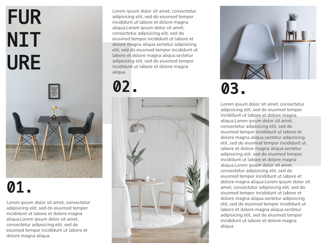 Brochure template: Interior Design Brochure (Created by InfoART's Brochure maker)