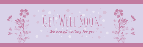 Email Header template: Simple Purple Get Well Soon Email Header (Created by InfoART's Email Header maker)