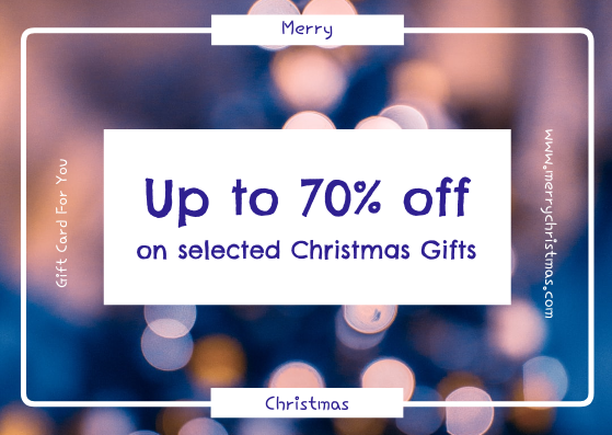 Gift Card template: Purple Glow Christmas Discount Gift Card (Created by InfoART's Gift Card maker)