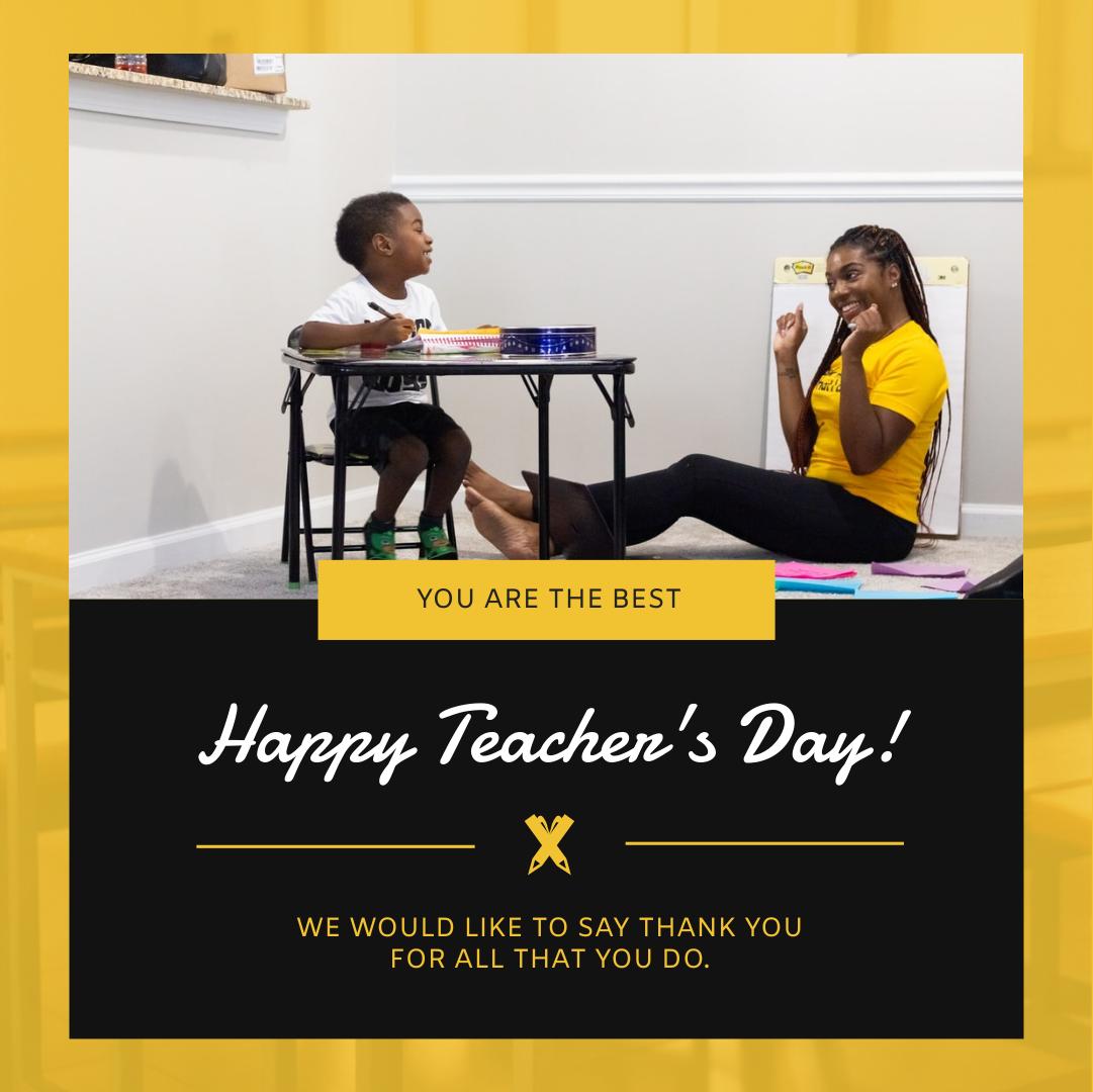 Instagram Post template: Yellow School Photo Teacher's Day Instagram Post (Created by InfoART's Instagram Post maker)