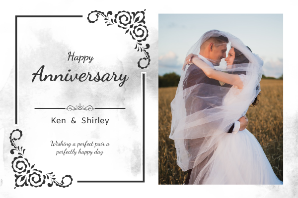 Greeting Card template: Photography Anniversary Greeting Card (Created by InfoART's Greeting Card maker)