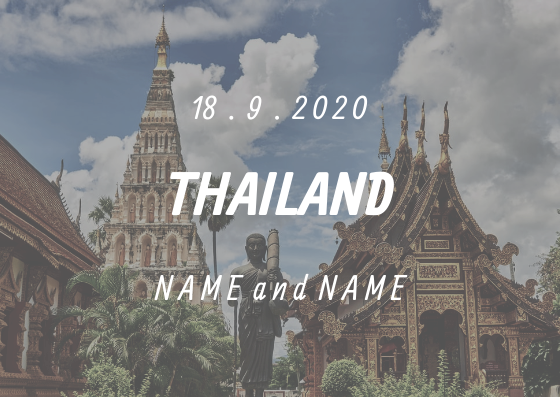 Post Card template: Thailand Post Card (Created by InfoART's Post Card marker)