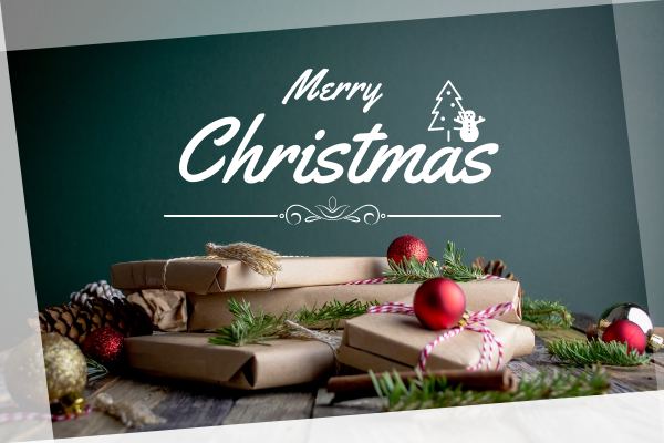 Greeting Card template: Simple Christmas Present Greeting Card (Created by InfoART's Greeting Card maker)