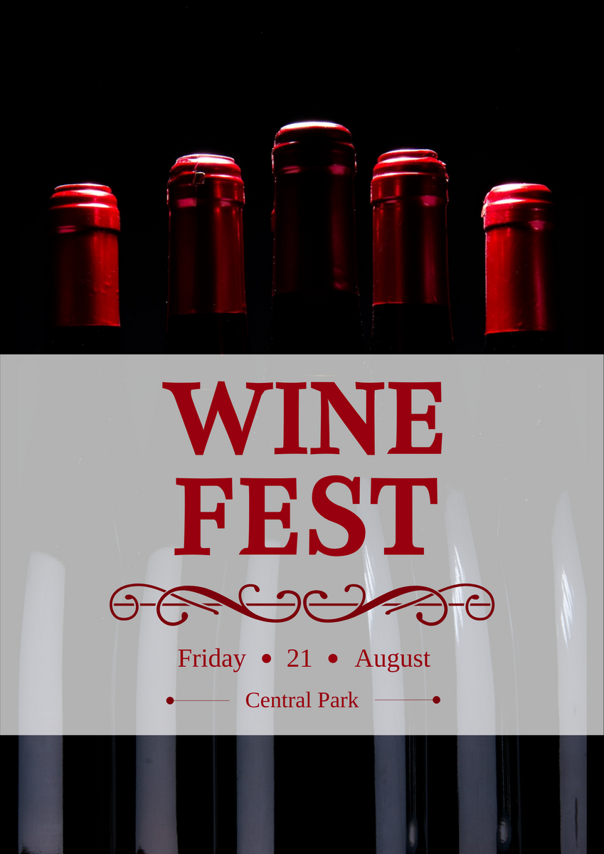 Poster template: Wine Festival Poster (Created by InfoART's Poster maker)