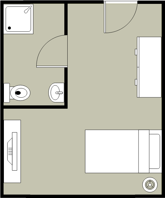 Single Bedroom Layout (Bedroom Example)