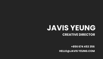 Business Card template: Black Business Card (Created by InfoART's Business Card maker)
