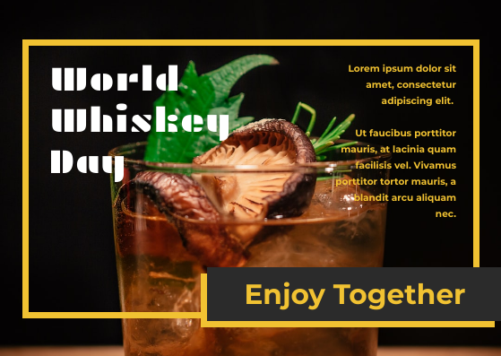 Postcard template: Photography Whiskey Day Postcard (Created by InfoART's Postcard maker)