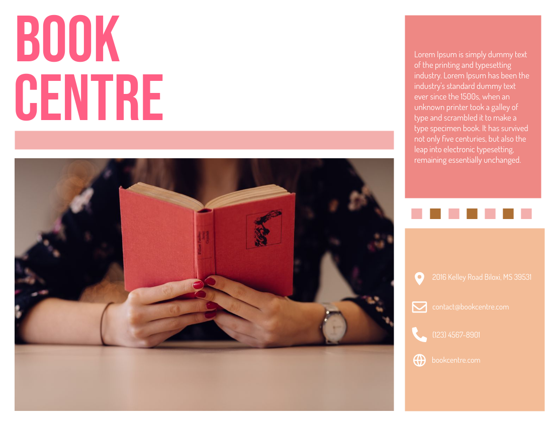 Brochure template: Book Centre (Created by InfoART's Brochure marker)