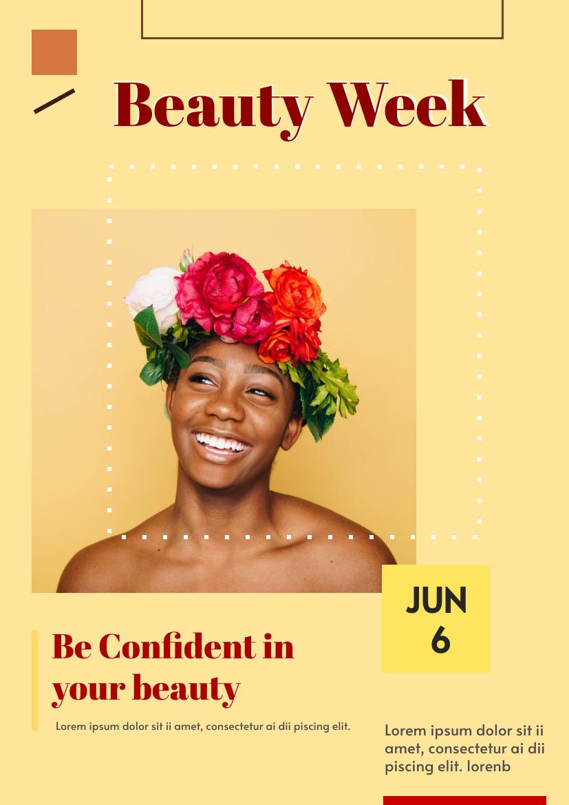 Flyer template: Beauty Week (Created by InfoART's Flyer maker)