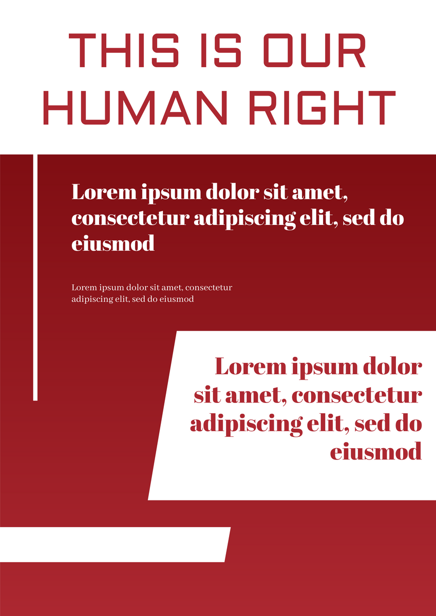 Poster template: Human Right Poster (Created by InfoART's Poster maker)
