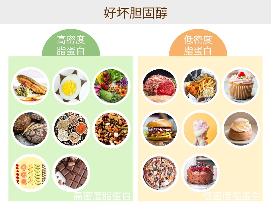 信息图表 template: 好坏胆固醇信息图 (Created by InfoART's 信息图表 maker)