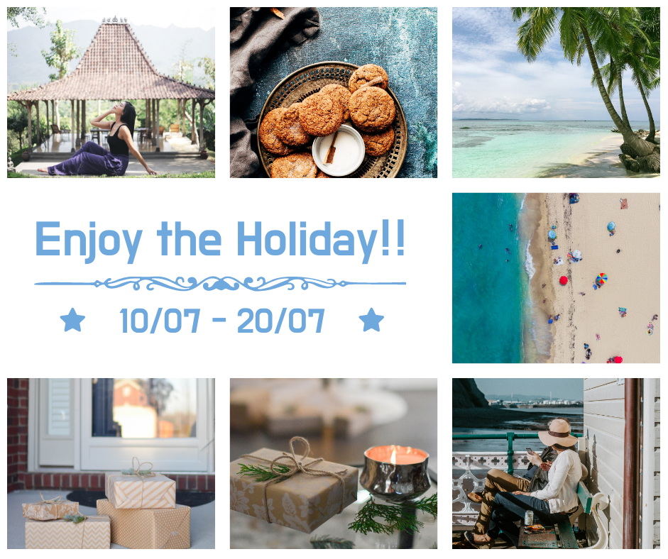 Facebook Post template: Summer Holiday Beach Vacation Facebook Post (Created by Collage's Facebook Post maker)