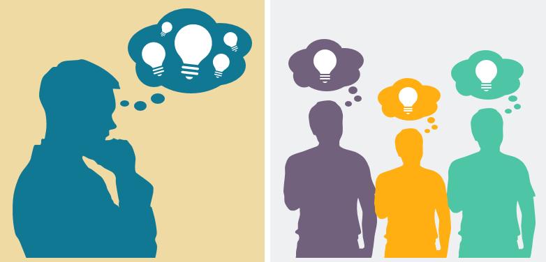 Individual vs group brainstorming