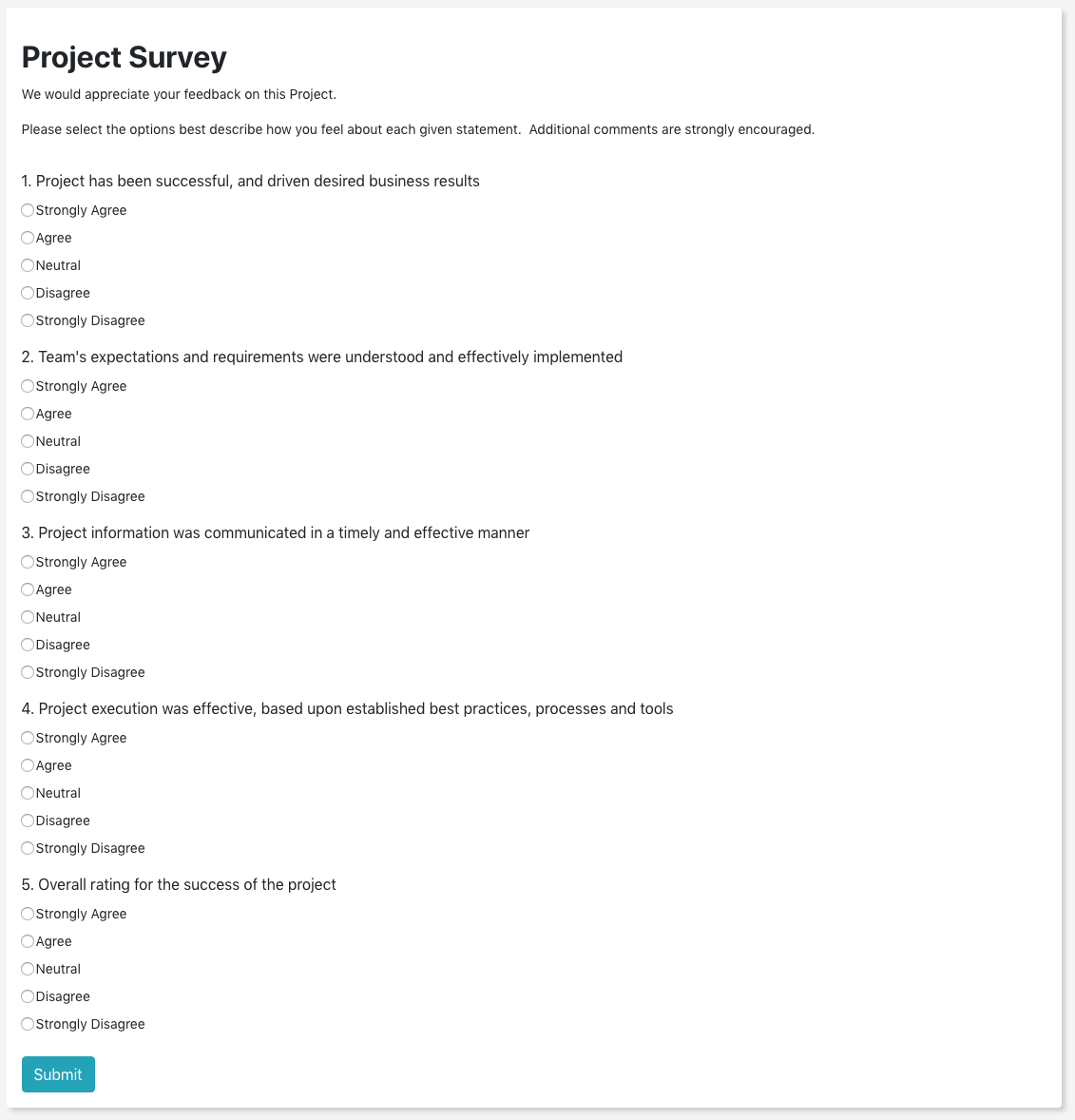 product survey